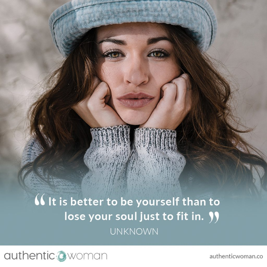Woman looking empowered as she embraces authenticity
