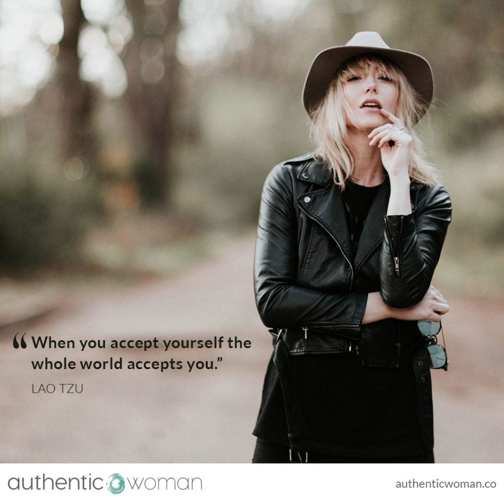 Woman feeling authentic and empowered