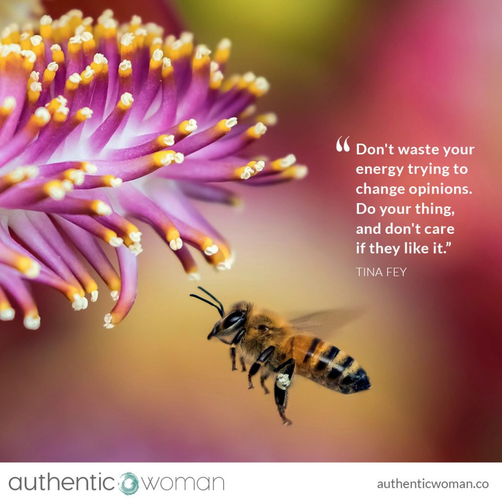 Bee and flower of self-compassion