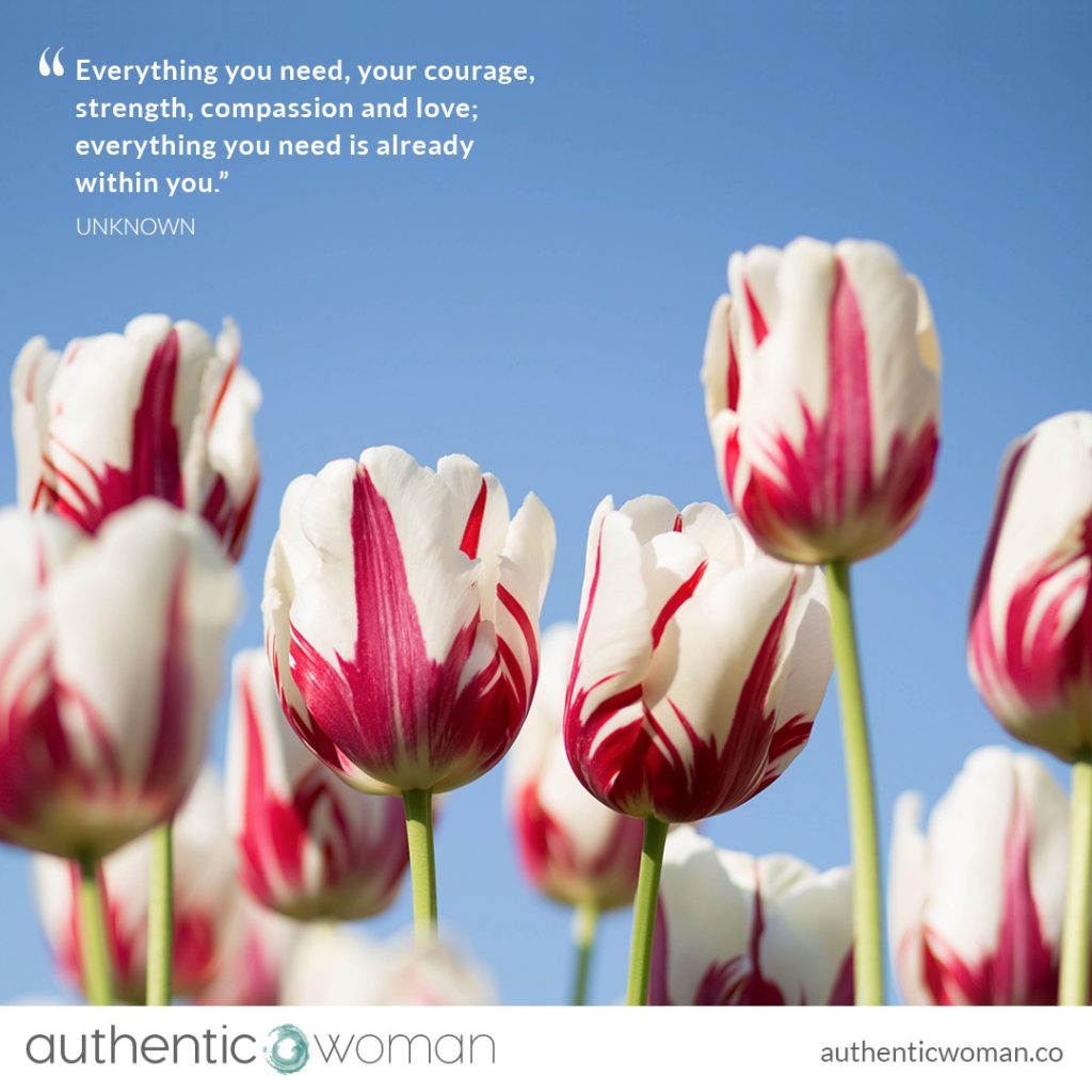 Tulips of self-compassion