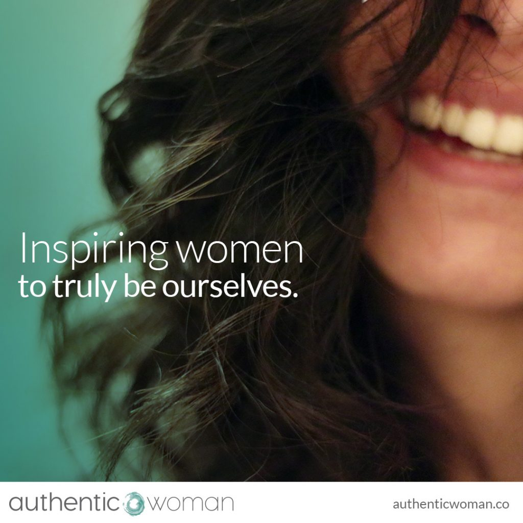 Authentic woman smiling