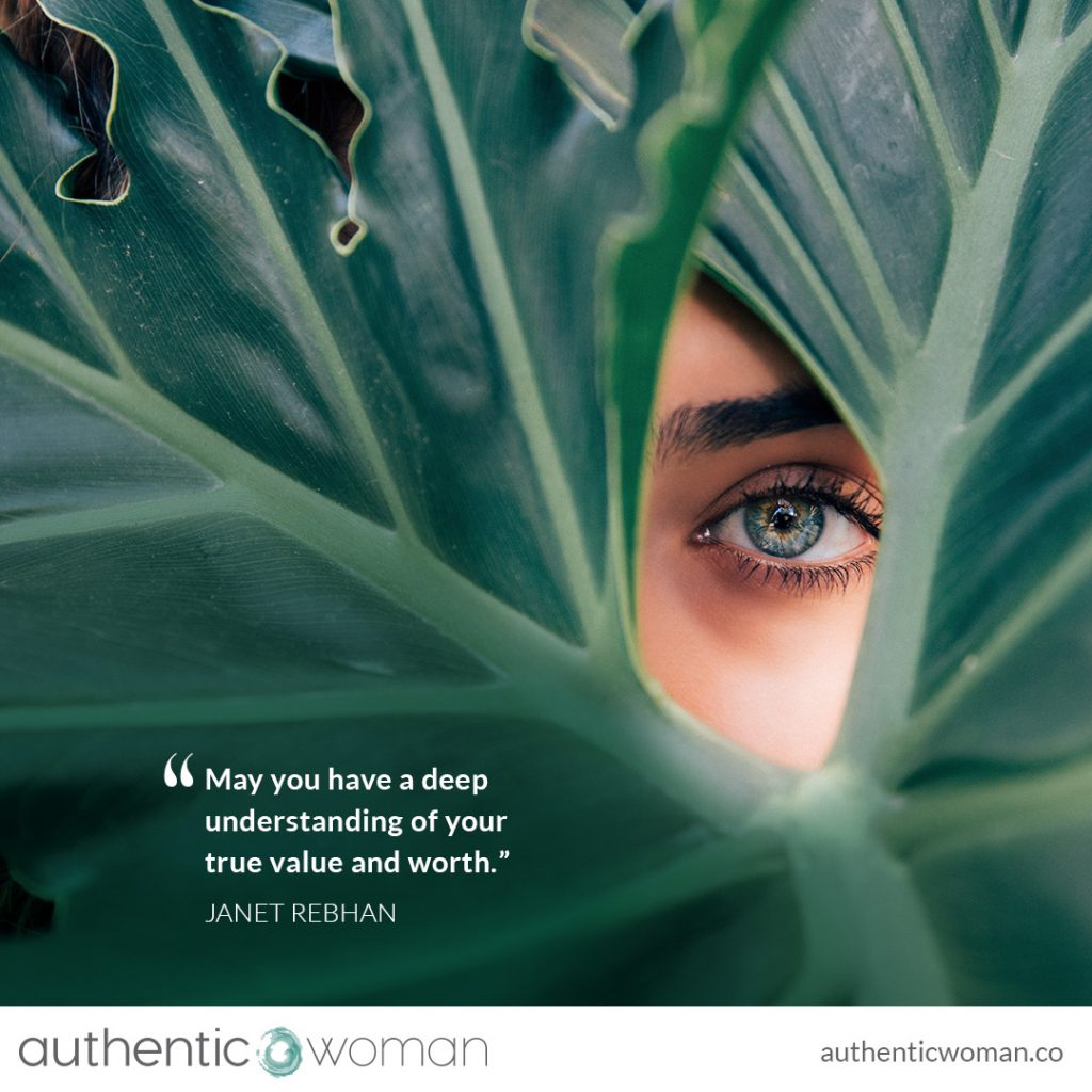 Authentic woman peering out at the world