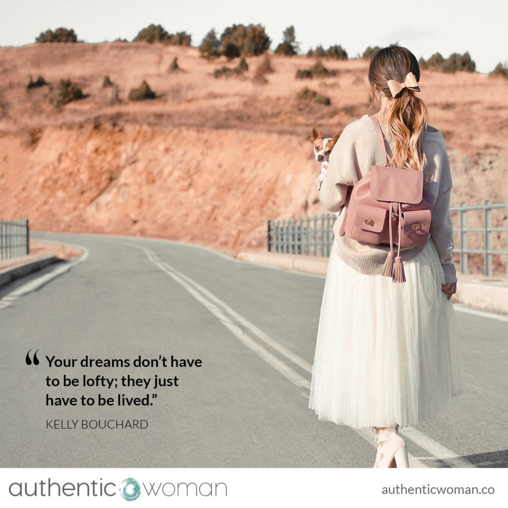 Empowered authentic woman