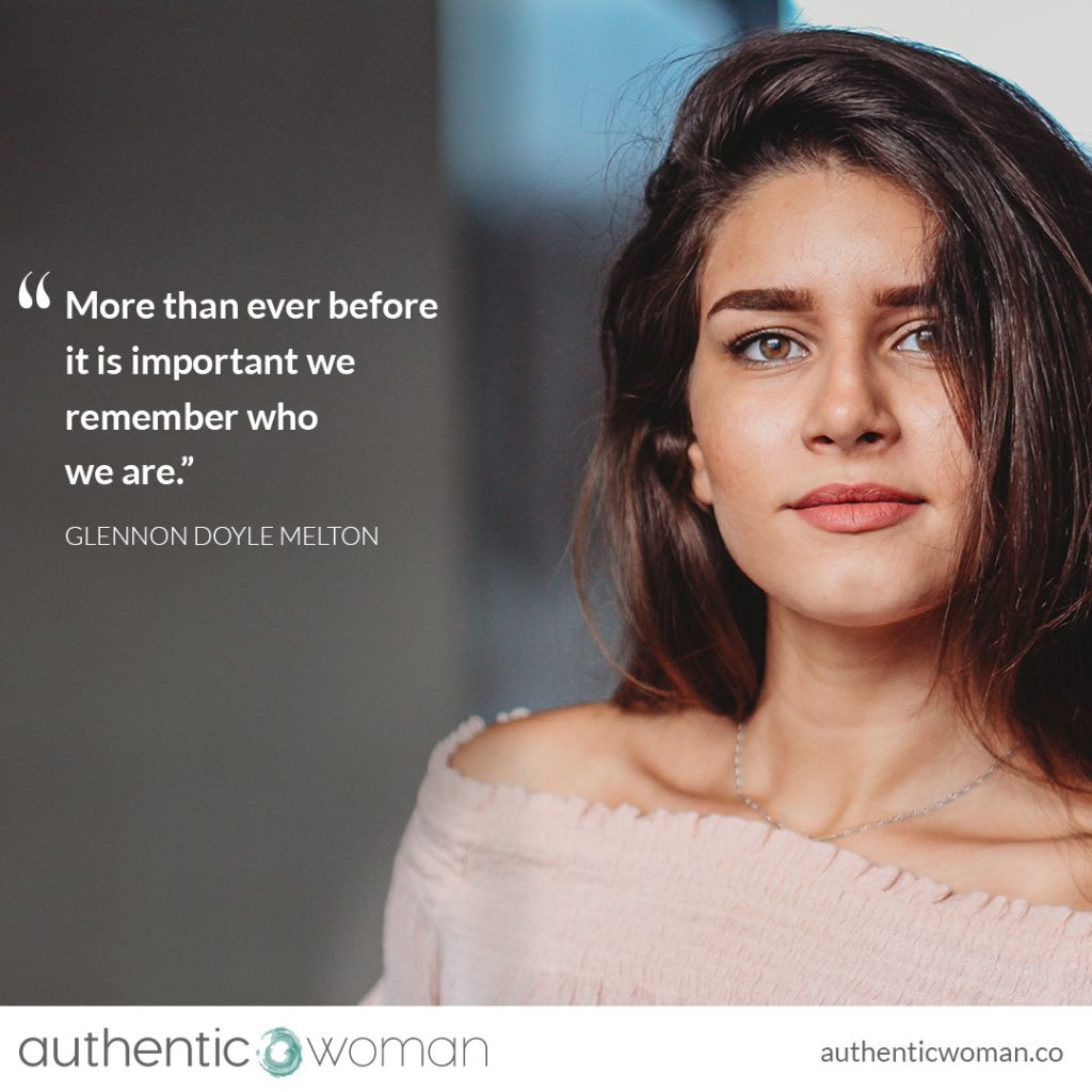 authentic woman thriving